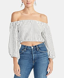 RACHEL Rachel Roy Off-The-Shoulder Crop Top