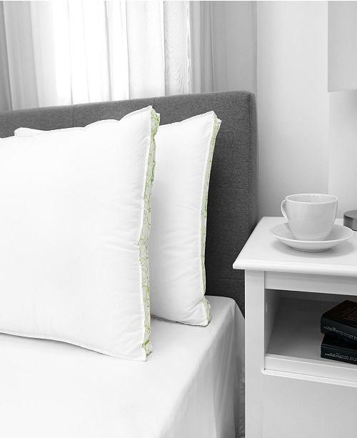 EcoPEDIC Firm Density Pillow with Cotton Cover, 2-Pack