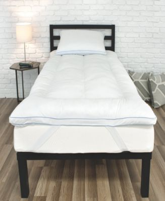 Back to Campus Gel-Infused MemoryLOFT Twin XL Mattress Topper with Jumbo Gel Pillow