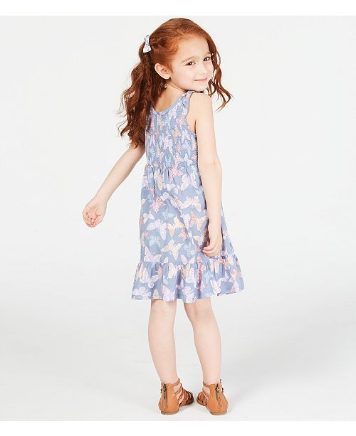 Epic Threads Toddler Girls Smocked Butterfly Print Dress