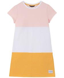 Calvin Klein Big Girls Cotton Colorblocked Shift Dress