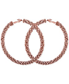 Crystal Pavé Large Hoop Earrings