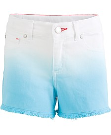 Tommy Hilfiger Big Girls Dip-Dyed Denim Shorts