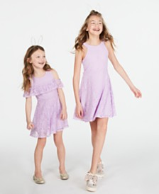 Epic Threads Big & Little Girls Floral Lace Dress, Created for Macy's
