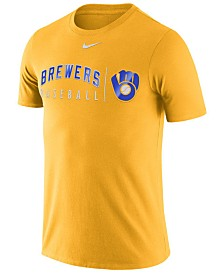Nike Men's Milwaukee Brewers Dri-FIT Practice T-Shirt