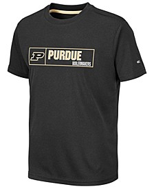 Big Boys Purdue Boilermakers Boxed Logo Polyester T-Shirt