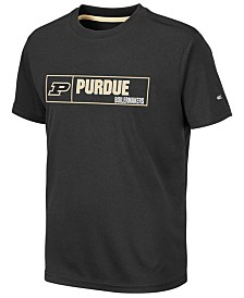 Colosseum Big Boys Purdue Boilermakers Boxed Logo Polyester T-Shirt