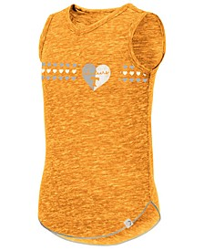 Big Girls Tennessee Volunteers Distressed Heart Tank Top