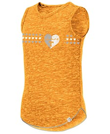 Colosseum Big Girls Tennessee Volunteers Distressed Heart Tank Top