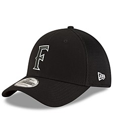 Cal State Fullerton Titans Black White Neo 39THIRTY Stretch Fittted Cap