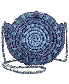 I.N.C. Straw Circle Crossbody, Created for Macy's