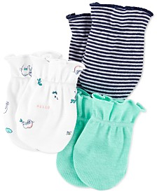 Carter's Baby Boys 3-Pack Printed Mittens Set