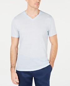Alfani Men's Linen Blend V-Neck T-Shirt, Created for Macy's