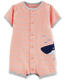 Carter's Baby Boys Cotton Shark Romper