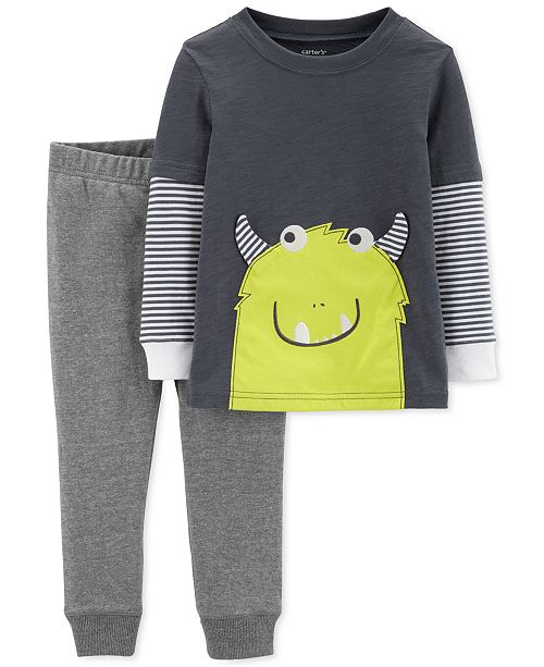 Carter's Toddler Boys Monster T-Shirt & Jogger Pants Set
