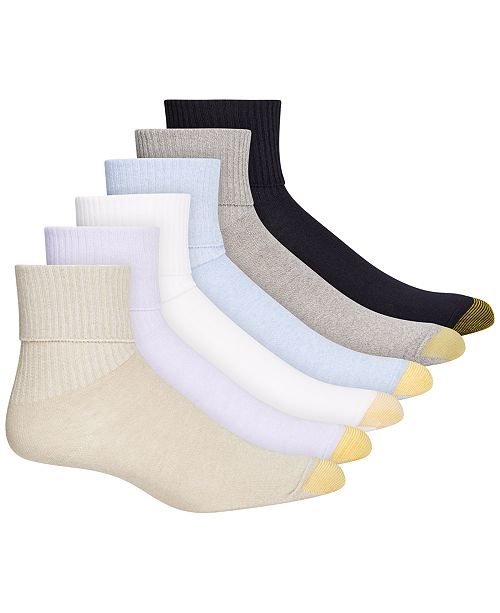 Gold Toe 6-Pk. Turn Cuff Socks