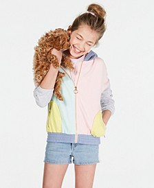 Big Girls Crisscross Cami, Colorblocked Hoodie & Denim Shorts, Created for Macy's