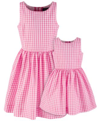 Toddlers Checkered Fit-and-Flare Dress, Created for Macy's