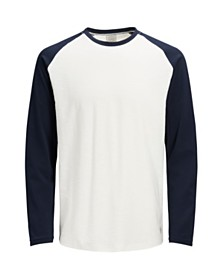 Jack & Jones Men's Slim Fit Baseball Long Sleeve Tshirt