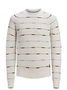 Jack & Jones Men's Dotted-Striped Sweater