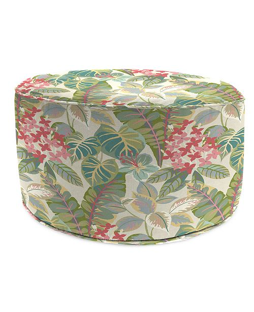 Strange Round High Outdoor Pouf 1 Pack Squirreltailoven Fun Painted Chair Ideas Images Squirreltailovenorg