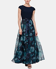 Floral-Organza Gown
