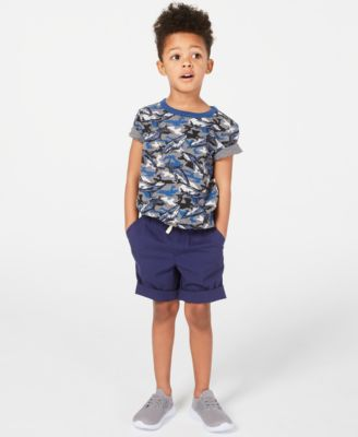 Little Boys Shark-Print T-Shirt, Created for Macy's