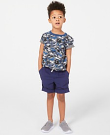 Epic Threads Little Boys Shark T-Shirt & Drawstring Shorts, Created for Macy's