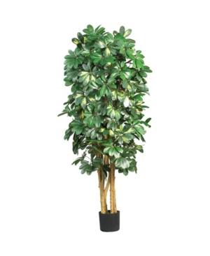 Nearly Natural 5' Schefflera Faux Silk Tree
