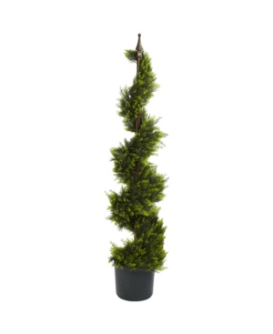 Nearly Natural 4' Cypress Spiral Faux Silk Tree