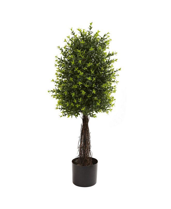"Nearly Natural 35"" Ixora Topiary UV Resistant"