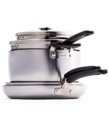 GreenPan Levels 6-Pc. Stainless Steel Stackable Ceramic Nonstick Set, Created for Macy's