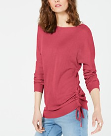 I.N.C. Petite Drawstring Dolman Sweater, Created for Macy's