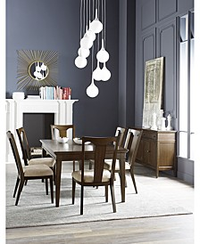 Matteo Dining 7-Pc. Set (Table & 6 Slat Back Upholstered Side Chairs), Created for Macy's