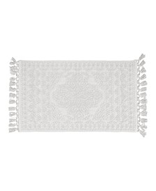 "Nellore Fringe Cotton 17"" x 24"" Bath Rug"
