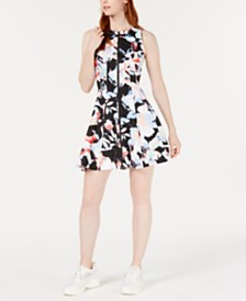 Bar III Sleeveless Printed Fit & Flare Dress, Created for Macy's