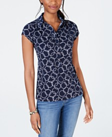 Charter Club Printed Polo, Created for Macy's