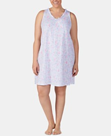 Lauren Ralph Lauren Plus Size Knit Cotton Nightgown