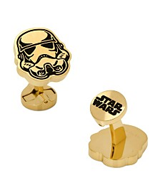 Stainless Steel and Storm trooper Cufflinks