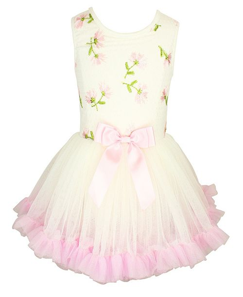 Popatu Embroidered Flower Petti Dress