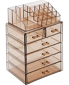 Cosmetic Makeup and Jewelry Storage Case Medium Display Sets - 4 Large 2 Small Drawers + Top