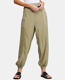 Free People Camellia Embroidered Jogger Pants
