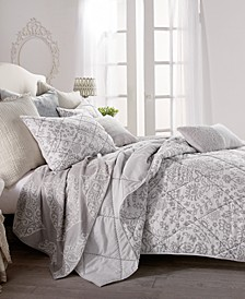 Home Block Print Floral Full/Queen Quilt