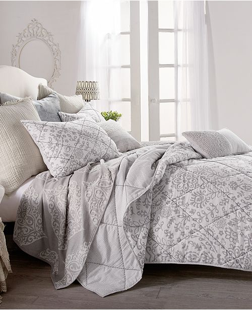 Peri Home Block Print Floral King Quilt