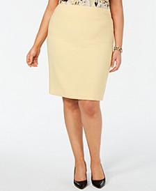 Plus Size Back-Vent Skirt