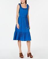 4b97b2b3012 MICHAEL Michael Kors Flounce-Hem Sleeveless Midi Dress