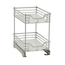 """Design Trend Glidez 11.5"""" Standard Depth 2-Tier Double Basket Sliding Under Cabinet Organizer"""