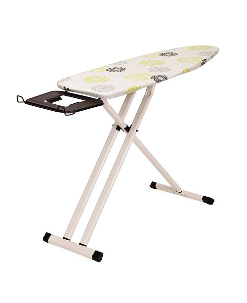 Household Essentials Perfect Steel Top Aluminum Leg Ironing Board, Wide Top