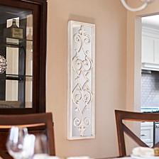 Framed Decorative Scroll Wall Mirror