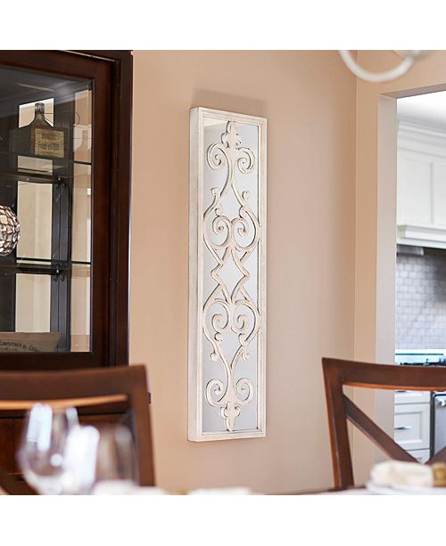 Household Essentials Framed Decorative Scroll Wall Mirror